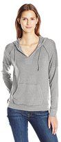 Splendid Women's Teton Cozy French Terry Notch Neck Hoodie