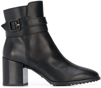 Tod's Buckle Ankle Boots