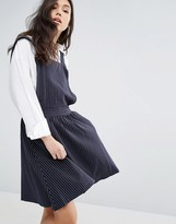 Minimum Denim Pinafore Dress