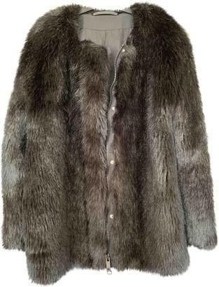 Karl Lagerfeld Paris Black Faux fur Coat for Women