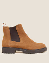 Thumbnail for your product : Marks and Spencer Wide Fit Suede Chelsea Ankle Boots