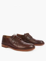 Officine Creative Brown Leather Oxford Shoes