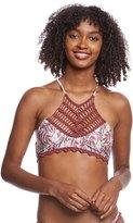 MinkPink Feather Palm Halter Bikini Top 8161430