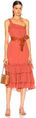 Marissa Webb Calista One Shoulder Dress in Sienna | FWRD