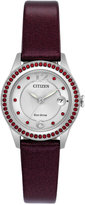 Citizen Women's Silhouette Crystal Jewelry Red Leather Strap Watch 29mm FE1121-05A, A Macy's Exclusive