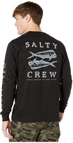 Salty Crew Double Up Premium Long Sleeve Tee (Black) Men's T Shirt