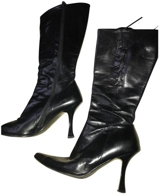Byblos Black Leather Ankle boots