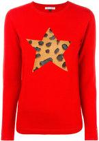 Bella Freud leopard-print star jumper
