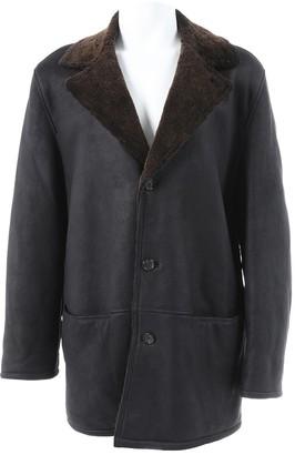 Ermenegildo Zegna Black Leather Coats