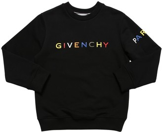 Givenchy Rubberized Logo Cotton Sweatshirt