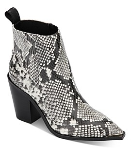 Kenneth Cole Women's West Side Snake Print Booties - 100% Exclusive