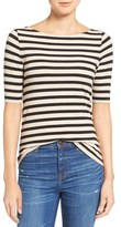 Madewell Chorus Stripe Scoop Back Tee
