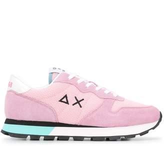 Sun 68 Suede Panel Sneakers