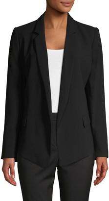 DKNY Notched Open-Front Blazer