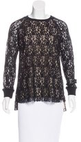 Sportmax Lace Long Sleeve Top