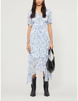 The Kooples Floral V-neck chiffon midi dress