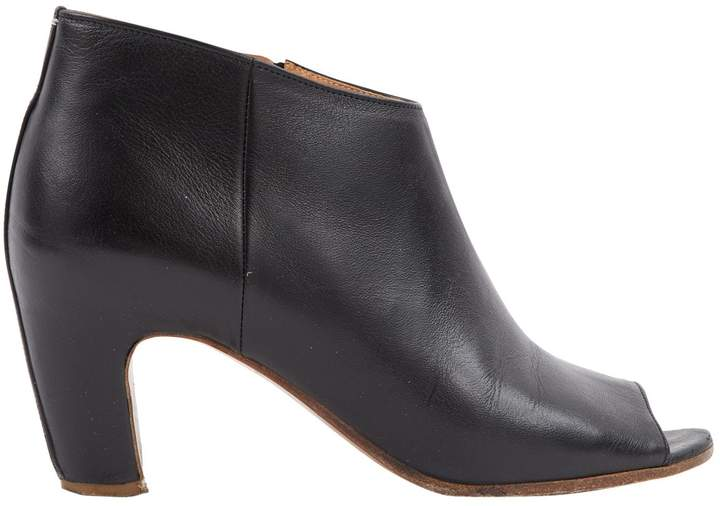 Maison Margiela Leather open toe boots
