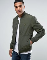 Lyle & Scott Bomber Jacket Eagle Logo in Green