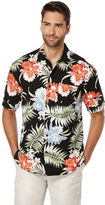 Cubavera Big & Tall Short Sleeve Tropical Print