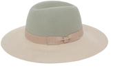 Magid Gray & Beige Floppy Hat