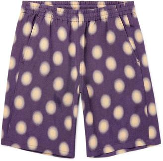 Needles Polka-Dot Jersey Basketball Shorts - Men - Purple