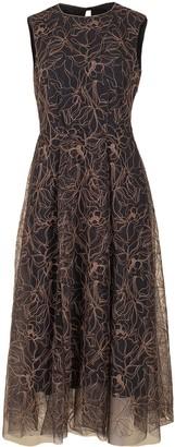 Brunello Cucinelli Embroidered Tulle Dress