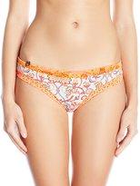 Maaji Women's Tangerine Muses Salvador's Stripes Hipster Cut Reversible Bikini Bottom