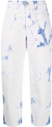 Stella McCartney Acid-Wash Cropped Jeans