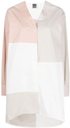 Lorena Antoniazzi Colour-Block Collarless Shirt