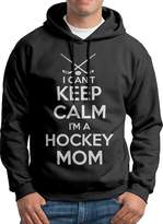 Sarah Men's Keep Calm Im A Hockey Mom Hoodie L