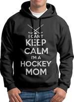 Sarah Men's Keep Calm Im A Hockey Mom Hoodie XL