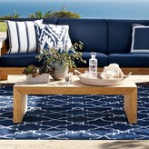 Williams-Sonoma Moroccan Gate Indoor/Outdoor Rug, Navy