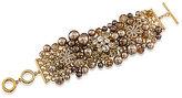 Carolee Metropolitan Club Cluster Statement Bracelet