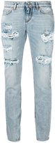 Dolce & Gabbana ripped cropped jeans - women - Cotton/Spandex/Elastane - 38