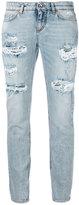 Dolce & Gabbana ripped cropped jeans - women - Cotton/Spandex/Elastane - 44