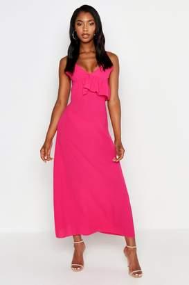 boohoo Strappy Frill Detail Maxi Dress