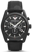Emporio Armani Men's Sport AR6051 Leather Swiss Quartz Watch
