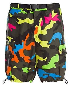 Valentino Men's Multicolor Camouflage Shorts