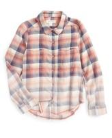 Girl's Treasure & Bond Plaid Flannel Shirt