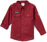 Smiths American Spicy Raisin Roll-Tab Sleeve Button-Up - Toddler & Boys