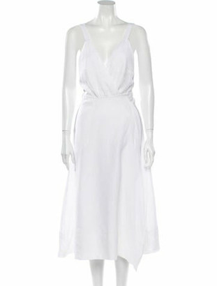 Reformation Maggie Midi Length Dress White