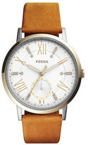 Fossil Chronograph Gazer Goldtone Leather Strap Watch