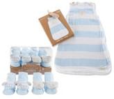 Baby Aspen Infant Boy's Sweet Snuggles 2-Pack Socks & Wearable Blanket Set