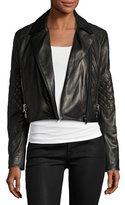 J Brand Adaire Leather Moto Jacket, Black