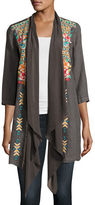Johnny Was Sita Embroidered Linen Jacket