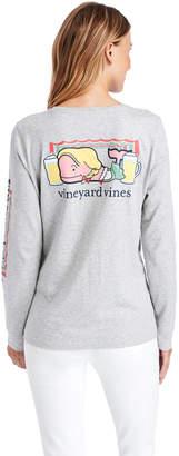 Vineyard Vines Oktoberfest Whale Long-Sleeve Pocket Tee