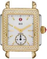 Michele Deco 16 Diamond Two Tone Watch Head, 29 x 31mm