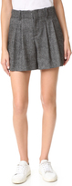 Alice + Olivia Eloise High Waist Pleated Shorts