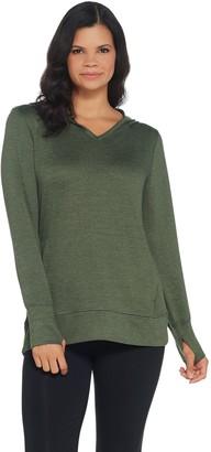 Denim & Co. Active Heavenly Jersey Long-Sleeve Top with Hood