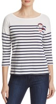 Sundry Stripe Patch Tee - 100% Exclusive